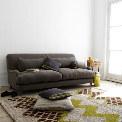 Large Mrs Smith – Gorgeous Upholstered Sofas Online Mrs Smith in thatch house fabric - Sofas | The Sleep Room