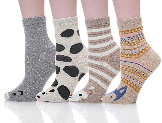 SDBING Women Girl Novelty Cool Animal Fun Crazy Cotton Socks (Cool Animal N90) at Amazon Women's Clothing store: