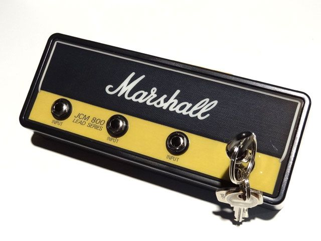 """何気ないライフスタイルに音楽を。【Pluginz】 Pluginz(プラグインツ) Official MARSHALL Jack Rack- """"JCM800 STANDARD""""with 4 keychains"""