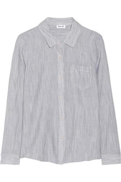 Dockway striped cotton shirt #shirt #offduty #covetme #Splendid