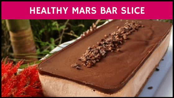 This Healthy Mars Bar Slice is literally to die for! So yummy. Gluten free, dairy free, sugar free. More healthy recipes on the blog!