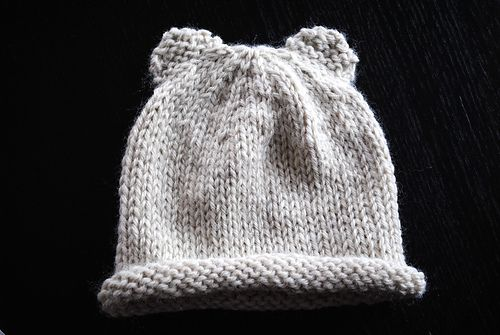 Knitting Pattern Baby Hat With Bear Ears : 254 best images about Knitting: Baby Booties and Hats on Pinterest Free pat...