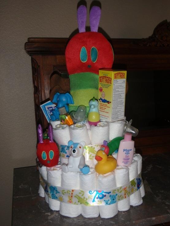 Caterpillar Baby Shower Cakes
