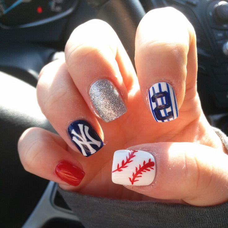 NY Yankees Baseball Nails!