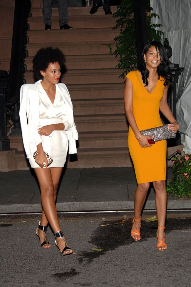Solange Knowles & Chanel Iman at Obama Fundraiser. I love both outfits.