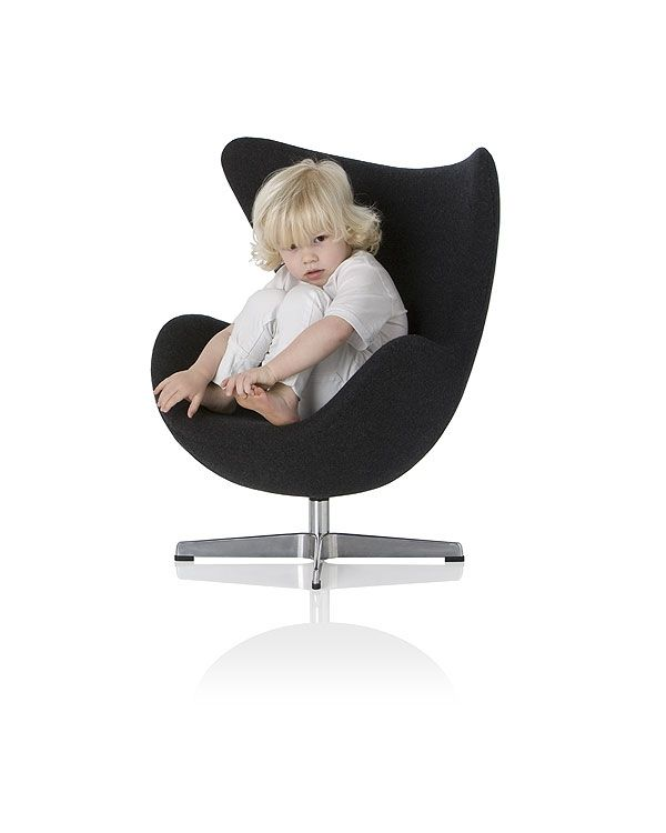 Yolk Chair: A Kid Sized Replica Of The Famous Egg Chair By Arne Jacobsen.  So Cute For A Kids Room