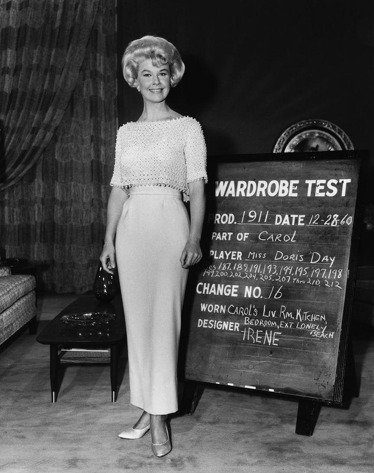 Doris Day wardrobe test for LOVER COME BACK, 1961
