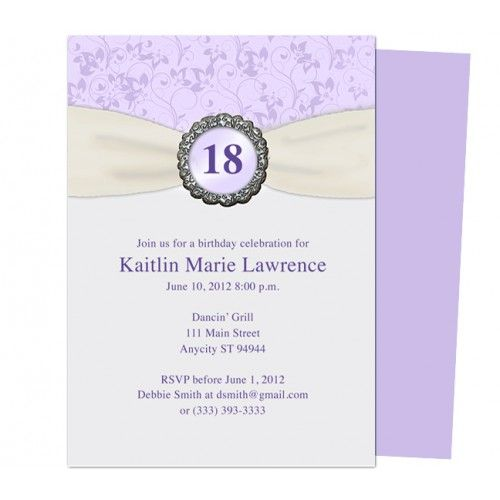 17 Best images about Birthday Party Invitation Templates on – 18th Invitation Templates