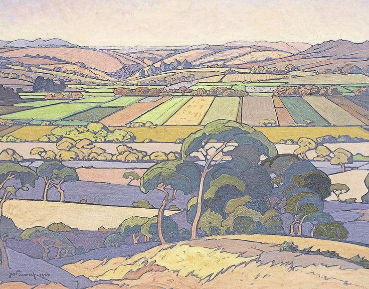 JH Pierneef An Extensive View of Farmlands