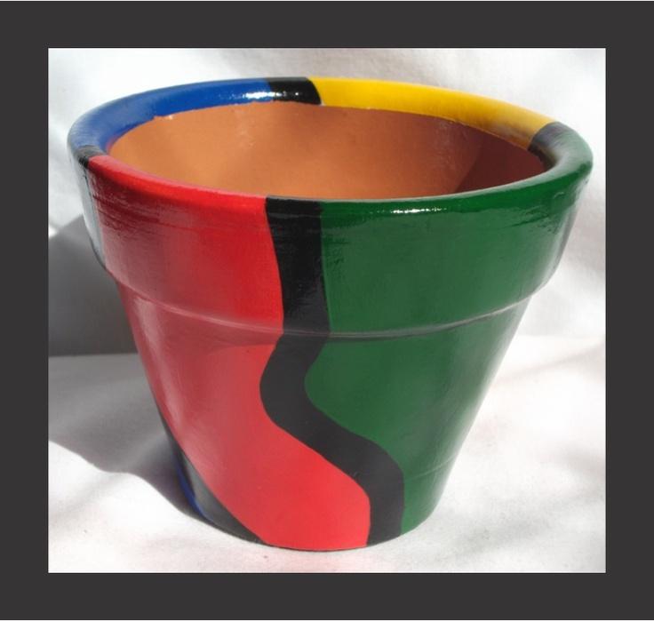 Maya - Vasos Ceramicos Pintados À Mão - Impermeabilizados