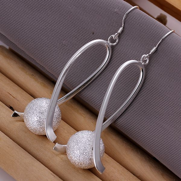 >> Click to Buy << 925 jewelry silver plated earrings , silver plated fashion jewelry , Ball Earrings E133 /dneamela egoamxva LKNSPCE133 #Affiliate