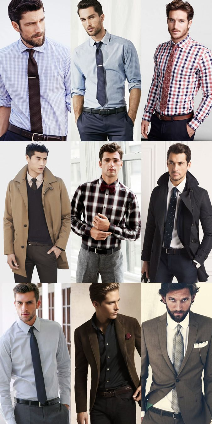 Men's Formal Belt Outfit Inspiration Lookbook | Honestly, I never know what belt to wear, but this is a great place to start.