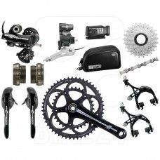 Campagnolo Athena EPS Groupset 2x11 CT Compact - Deep Black
