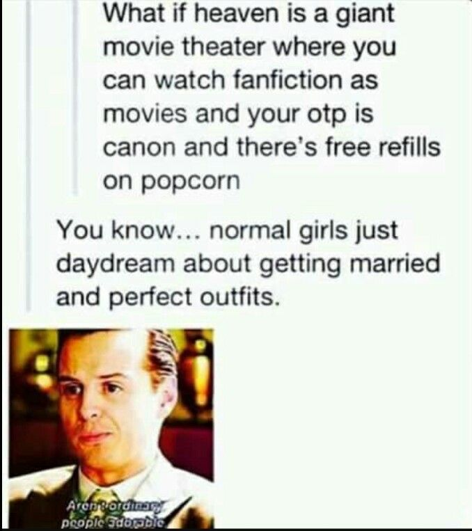 I want that to be a thing! Especially the popcorn refills