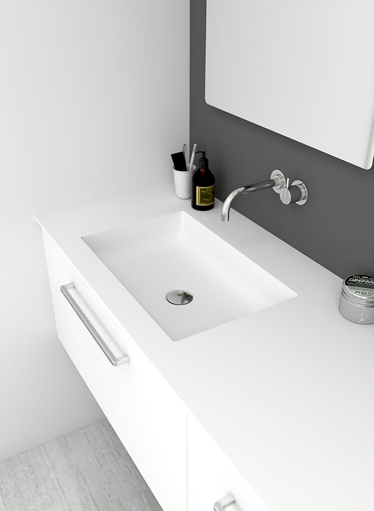 Shape is an all-new seamless washbasin and tabletop made from the ultra-thin solid surface material.