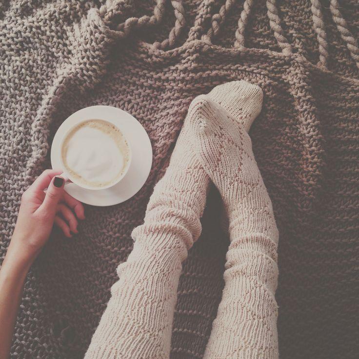 Warm socks & a latte