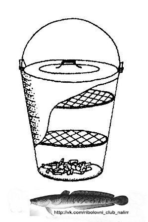 ПОХОДНАЯ КОПТИЛЬНЯ ИЗ ВЕДРА...  Без больших затрат легко сделать коптильню для рыбы из обыкновенного эмалированного ведра. Кроме него, понадобиться две круглые решетки. Их можно сделать из листа 2-миллиметровой нержавейки, просверлив в нем ряд мелких отверстий. Одна из решеток должна располагаться на расстоянии 120 мм от верха, вторая – на 70 мм ниже.  Процесс копчения выглядит так. Насыпаем на дно ведра слой ольховой щепы толщиной примерно 3-4 мм. Рыбу чистим от чешуи, внутренностей и…