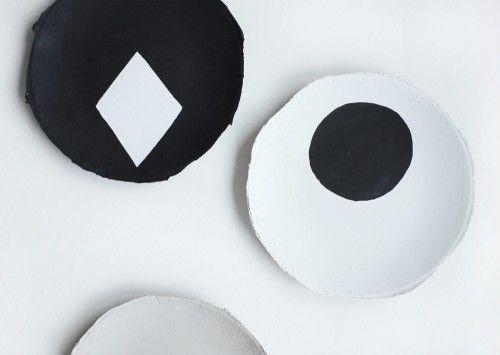 Second Skin Graphic Plate - monochrome plates for a monochrome kitchen