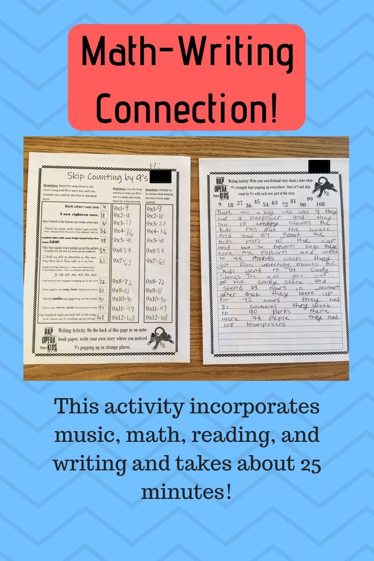 Math Writing Reading Music All In One Activity In 25 Minutes Math Writing Story Writing Math How to write multiplication story