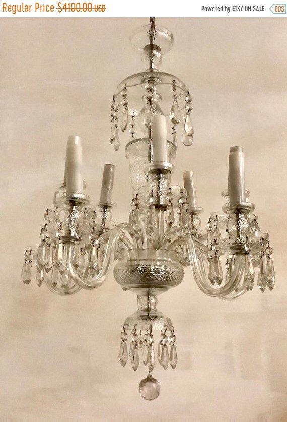10 Light Crystal Chandelier Vintage Bohemian Crystal Chandelier