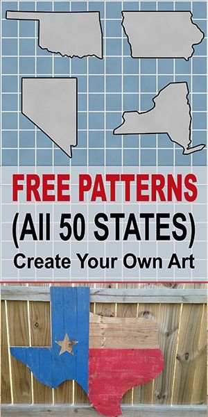 DIY Woodworking Ideas Free state map, outlines, shapes, patterns, and printable, downloadable stencils...