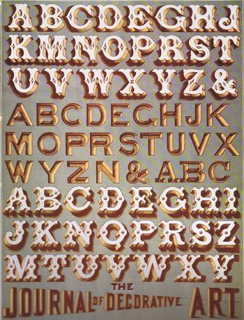 Lucky B Design: Vintage Sign-Writing guides...