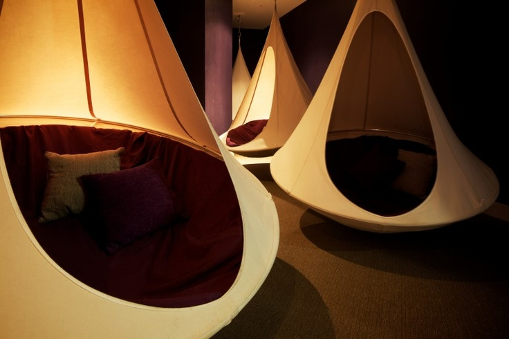 Cacoon is designed on the basis of the nests of the weaver bird