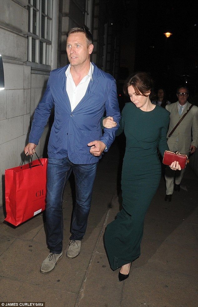 Chic: Anna Friel appeared worlds away from her on screen character, Marcella Backland, as ...