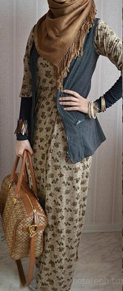 Cut Jeans Cardigan + Dress! #Hijab