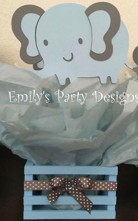 Baby Elephant Baby Shower Centerpiece by designsbyemilys on Etsy