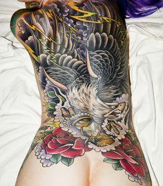 traditional eagle back tattoo - Google Search