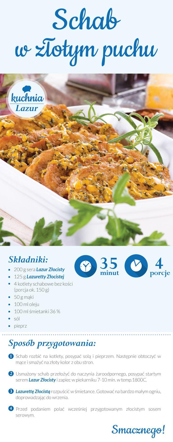Schab w złotym puchu /schab /Lazur /ser pleśniowy /rokpol /przepisy /kuchnia lazur