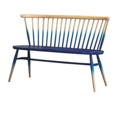 Ercol Faded Blue Love seat