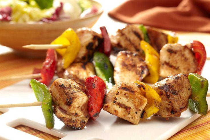 Mmmm!  Grilled Rainbow Chicken Kabobs