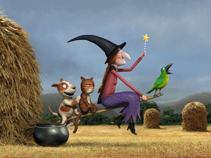 #Room on the broom, d'après Hop, dans les nuages! de Julia Donalson et Axel Sheffler. Réalisé par le Studio Soi, of course!
