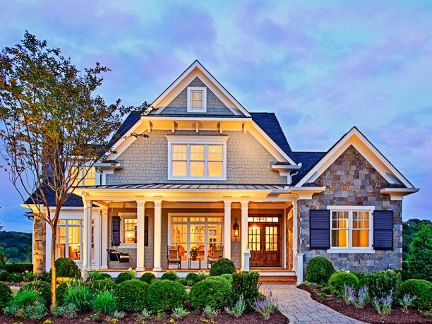 Lovely #house #exterior with its beautiful front yard #garden.