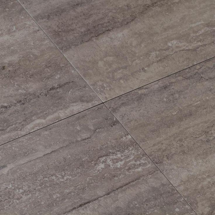 Atrium Kios Gris Glazed Porcelain Floor Tile: MSI Trevi Gris 6 In. X 24 In. Glazed Porcelain Floor And