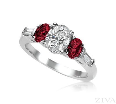 round ruby carats set diamond accent and review unusual rings pave engagement ring