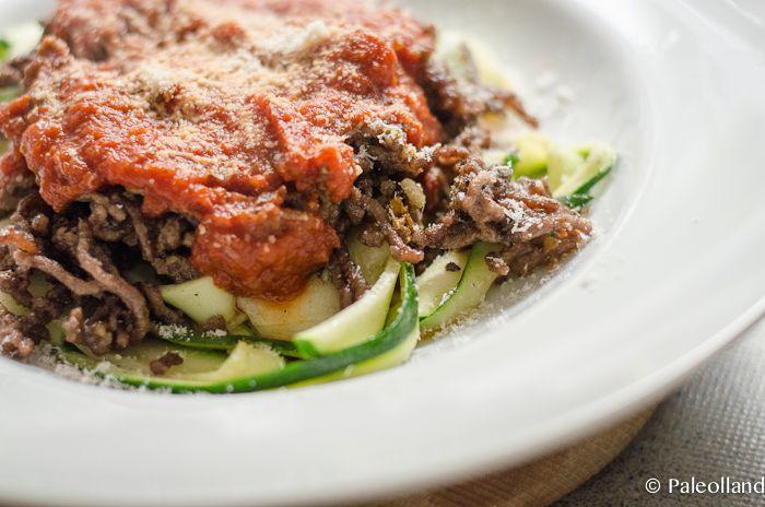 Zucchini Tagliatelle Aglio Et Olio (with Garlic and Olive Oil)