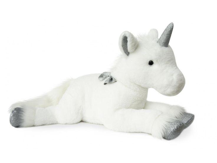 Histoire d'ours - Licorne argent - 60 cm #histoiredours #licorne #doudou #cadeauxnoel #cadeaunaissance