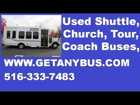Busses For Sale | 2008 Ford E450 Wheelchair Non-CDL Shuttle Busses For Sale For Your Adult Transportation - This coach bus has BRAUN Electronic WHEELCHAIR LIFT. This cheap bus has Drivers step + ANTI-LOCK BRAKES. This tour bus has Tilt Wheel + Cruise Control. This bus is Fully inspected and ready for immediate delivery! It has 224,207 miles on it. For more information on Used Busses for sale call CHARLIE at 516-333-7483 or visit us at www.GETANYBUS.com