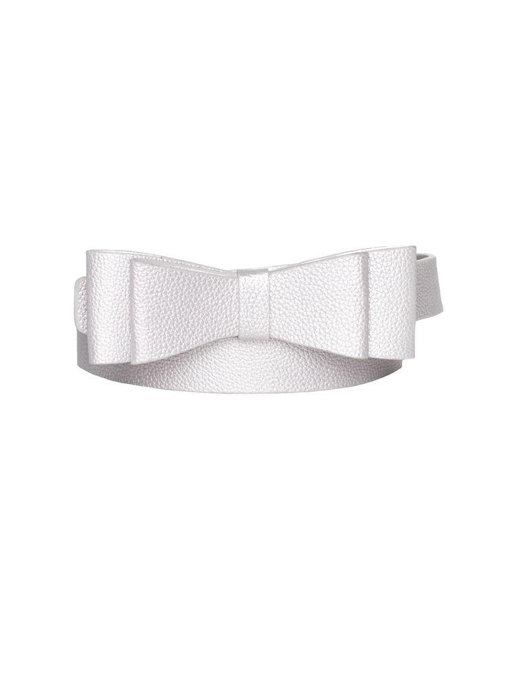 Maddie Bow Belt   Silver   Belts