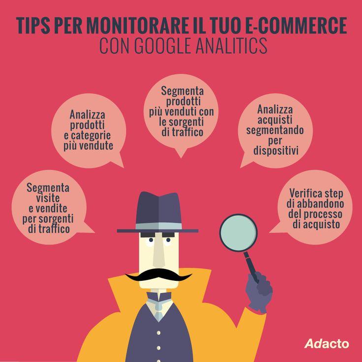 Come monitorare il tuo e-commerce con #GoogleAnalitycs? Ecco i nostri #tips4business #adacto