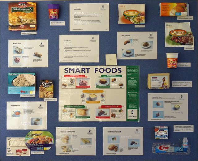 I like this one smart foods use packaging and stick for Home economics classroom decorations