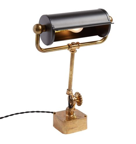 Table-Mounted Brass Nautical Desk Lamp