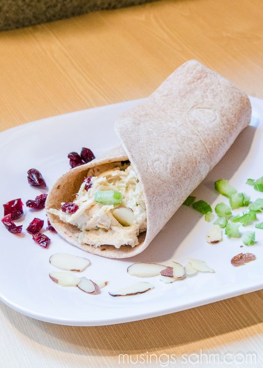 Cranberry Chicken Salad Wrap recipe is a delightful wrap with chicken, slivered almonds, celery, and dried cranberries for added flavor. It's quick and easy to prepare, making it a delicious way to enjoy a healthy, filling lunch.