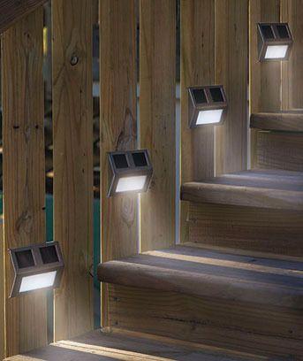 96 best steps for backyard hill images on pinterest for Solar lights for patio steps