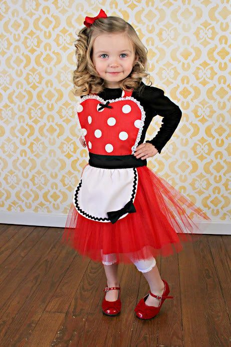MINNIE MOUSE apron kids TUTU Dress up apron red Polka Dots | Kids ...