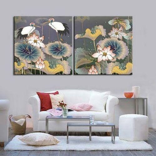 Crane Birds Modern Decorative Canvas Oil Painting | eBay