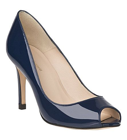 LK BENNETT Olympia patent leather courts (Blu-navy